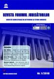 Revista Forumul Judecatorilor - nr. 1 2018