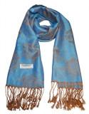 Esarfa lunga tip sal, 180x70 cm., Albastru, Lana