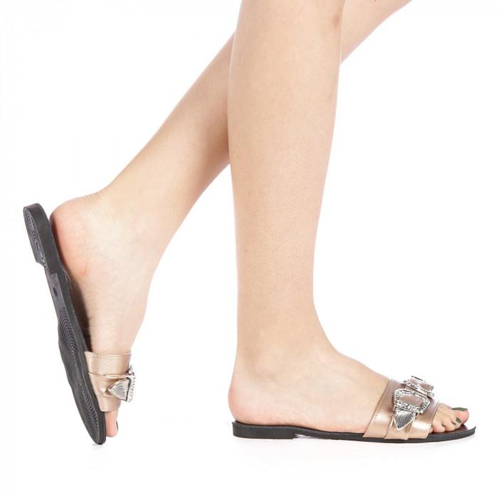 Papuci dama Guncan champanie