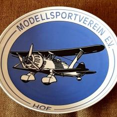 Reducere! ROSENTHAL portelan farfurie perete- tablou avion biplan