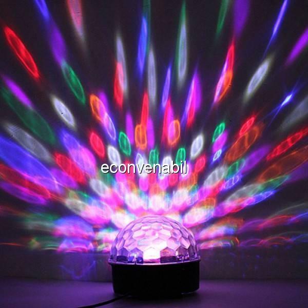 Glob Disco Lumini Colorate cu MP3 Player si Telecomanda