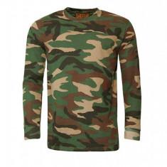 Bluza barbati Game Tehnical Apparel LS Tshirt Woodland Verde XXL