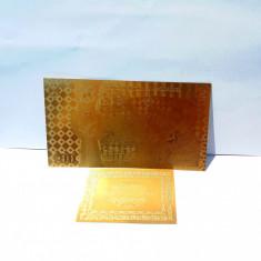 Bancnota 100 LEI Unire Centenar aur 24k gold certificat 2018 UNC colectie