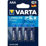 Set 4 Baterii Alcaline AAA 1,5V Varta LongLife 4903
