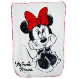 Paturica groasa Disney Minnie Mouse STC10A 100 x 140 cm, Alb