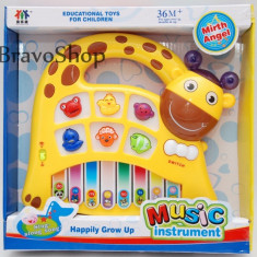 Pianina pentru copii (Girafa) - Jucarie educationala!