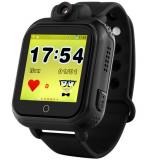 Ceas GPS Copii, iUni Kid730, 3G, DIGI Mobil, Touchscreen, GPS, LBS, Wi-Fi, Camera, buton SOS, Negru