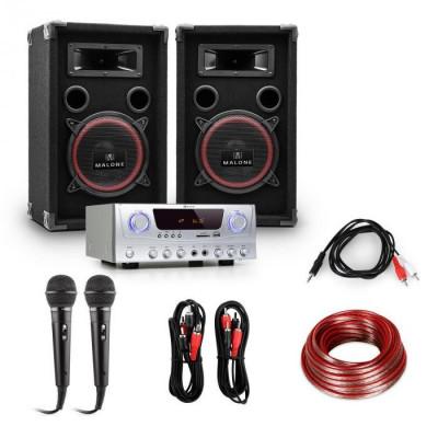 """Electronic-Star Sistem PA """"EASY"""" DJ Set boxe, amplificator, microfoane de 1000W foto"""