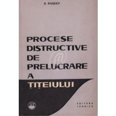 Procese distructive de prelucrare a titeiului