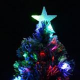 Cumpara ieftin Brad de Craciun artificial 210 cm, LED-uri multicolore, zapada artificiala, stea, PRC