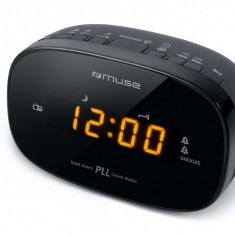Radio cu ceas MUSE M-150 CR, Afisare ambra FM PLL Radio Alarma dubla