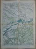 Bucuresti si imprejurimile// harta militara perioada WWI