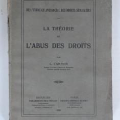 La theorie de l'abus des droits L. Campion