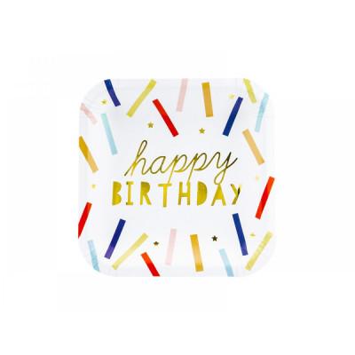 Farfurii din carton, Happy Birthday foto