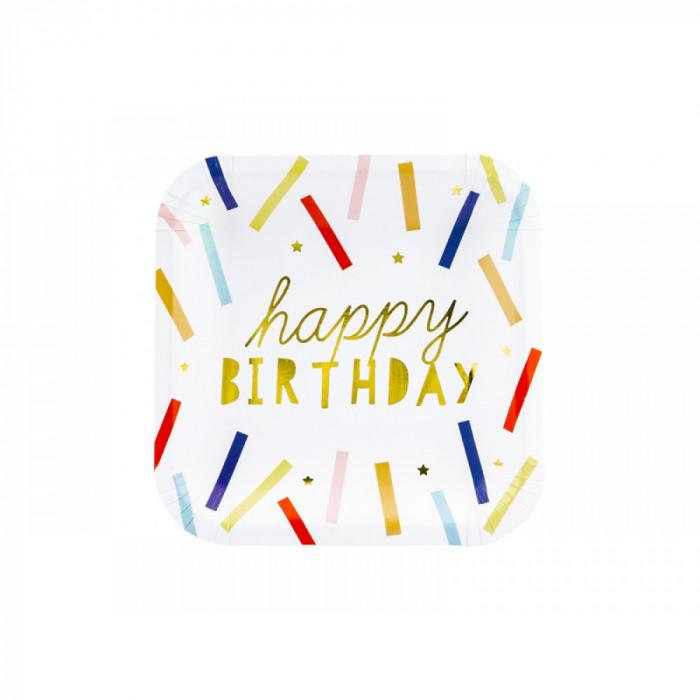 Farfurii din carton, Happy Birthday