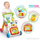 Premergator copii cu centru de activitati muzical pentru bebelusi, 6-12 luni, Alb