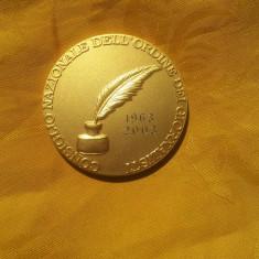 Medalie Argint placat Aur-75 Gr.-Rara !!