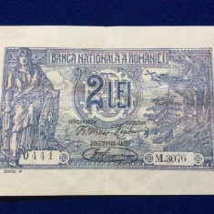 BANCNOTE ROMANIA - 2 LEI 1920 - SERIA M.3076 0441 (starea care se vede)