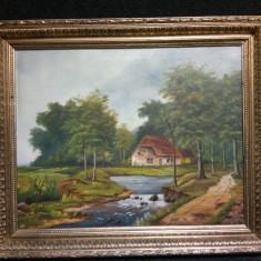 Ulei pe panza o lucrare foarte veche, Natura, Realism