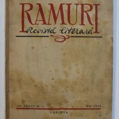 RAMURI - REVISTA LITERARA , AN XXXVII , NR . 5 , MAI 1942