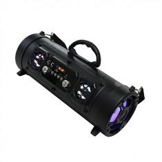 Boxa portabila extra bass, wireless, 20W, negru, Gonga