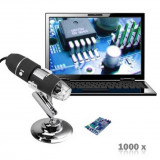 Microscope Endoscope 1000X Zoom Camera Magnifier 2MP USB Digital 8 LED + Stand
