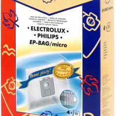Sac aspirator Electrolux Philips Universal (S Bag) sintetic 4x saci KM