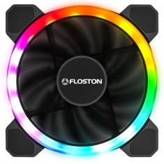 Ventilator pentru carcasa Floston Halo Rainbow Dual RGB foto