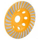 Piatra de polizor Tolsen, cupa turbo segmentata, 125 mm