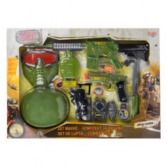 Set militar pentru copii, model cu 11 buc, cu masca, arme si accesorii