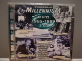 Millennium 4o Hits '65-'69 - Selectii - 2CD(1998/Emi/France)-CD ORIGINAL/Sigilat, emi records