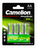 Set 4 acumulatori AA 600 mAh, Ni-Mh 1,2V  ready to use - Camelion