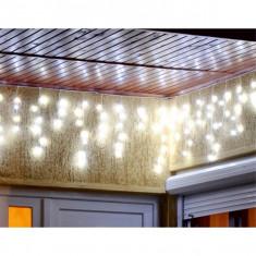 Perdea lumina flori de gheata, 200 LED, 4.7 m, 8 programe iluminare, exterior