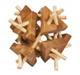 Cumpara ieftin Joc logic IQ din lemn bambus Sticks&triangles