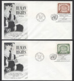 UN New York 1958 Human rights Mi.74-75 FDC UN.049