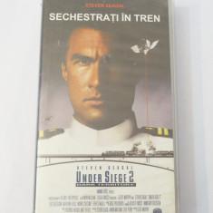 Caseta video VHS originala film tradus Ro - Sechestrati in Tren