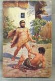 AD 262 C. P. VECHE -QUO VADIS ?-URSUS OVERCOMES THE GIANT -PATATA, Franta, Circulata, Printata