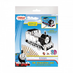 Set creativ 3D cu 12 creioane colorate Starpak, Thomas and friends