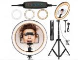 Selfie LAMPĂ Inel 120W de make-up si fotografiat tripod 220cm, inel 30cm