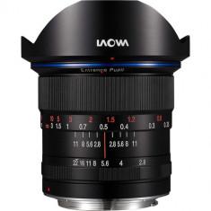 Obiectiv Manual Venus Optics Laowa Zero-D 12mm f/2.8 Negru pentru Canon EF