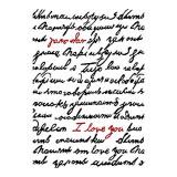 Covor modern Platin Love, 80 x 150 cm, polipropilena, model litere, Multicolor