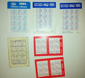 LOT 6 CALENDAR / CALENDARE ADESGO / EDITURA MILITARA ANII 70-80