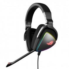 Gaming headset asus rog delta rgb gaming headset with hi-res ess quad- dac circular rgb