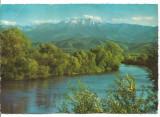 Carte postala-(cod 1140/2)-VALEA OLTULUI-Masivul Fagaras -KRUGER, Circulata, Printata
