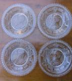 Antichitati Jubiliare 4 farfurioare efigia Regelui Carol I
