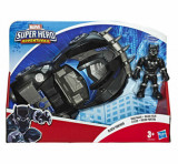 Marvel Super Hero Adventures - Figurina cu vehicul, Black Panther
