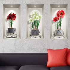Sticker Decor Interior 3D Flori Liliac