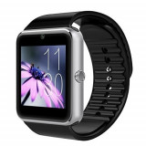 Cumpara ieftin Ceas Smartwatch cu Telefon iUni GT08, Bluetooth, Camera 1.3 MP, Ecran LCD antizgarieturi, Silver, Argintiu