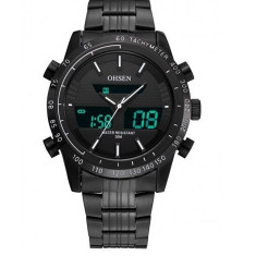 Superb ceas militar/casual,Dual Display,Rezistent Apa,Timer,Alarma, Quartz, Otel