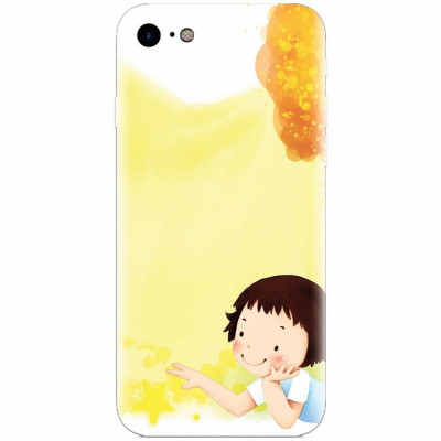 Husa silicon pentru Apple Iphone 6 / 6S, Child Autumn Paint Hd foto